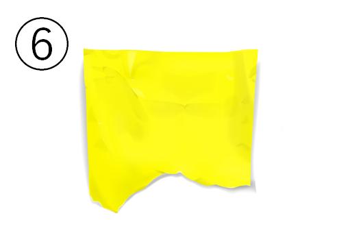 黄色いクシャッとした切れ端
