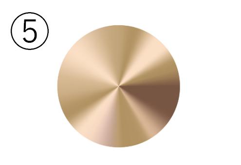 ゴールドの金属丸