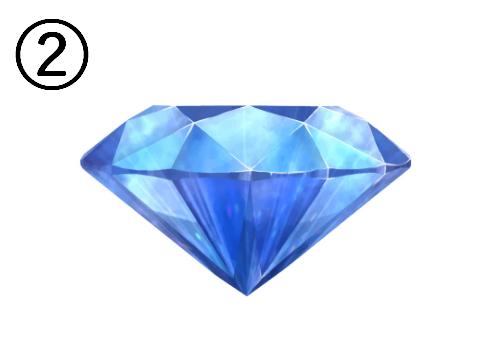 真横から見た青い宝石