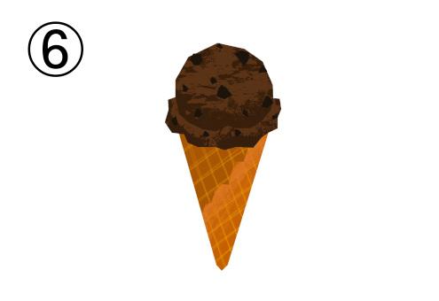 チョコチップ入チョコアイス