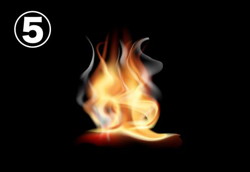 ゆらぎの強い炎