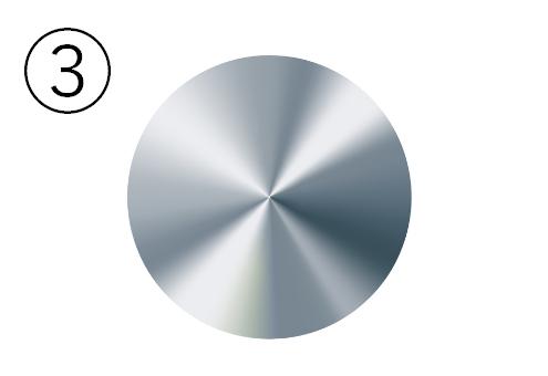 ブルーシルバーの金属丸