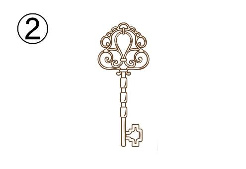 繊細な装飾の鍵