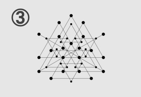 三角形が集まってできた図