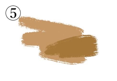 薄い茶色と濃い茶色が重なった筆跡