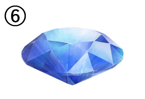 上を向いて立った青い宝石