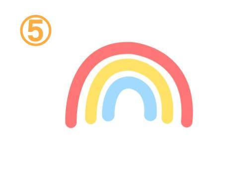 隙間のあいた太い三色虹