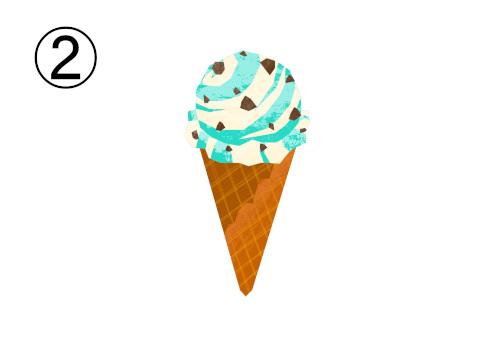 マーブルチョコミントアイス