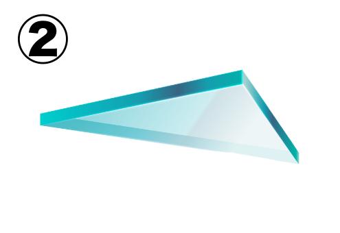 直角三角形のガラス片