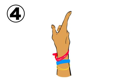 人差し指を立てた右手