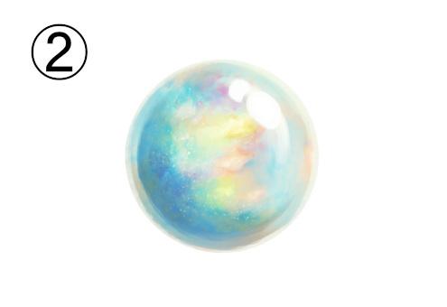 虹色に輝く真珠