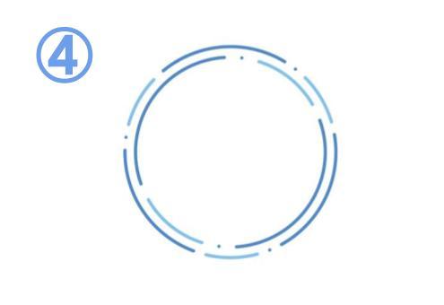 青と水色の、ほしい点と線でできた繊細なフレーム