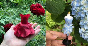 【まるで童話の世界】本物の花を使った「妖精のドレス」に18万人がウットリ♡