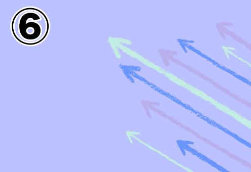 背景紫、水色、青、薄紫の矢印