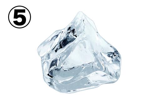 氷山のような大きめの氷
