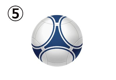 ネイビーデザインのサッカーボール