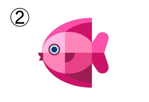 ヒレがショッキングピンクの、ピンクの魚