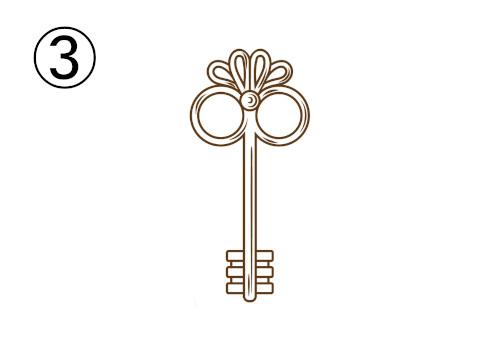 ハサミの柄のような鍵
