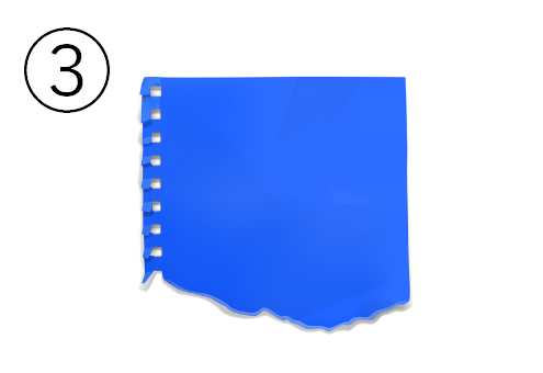 青のリングノートの切れ端