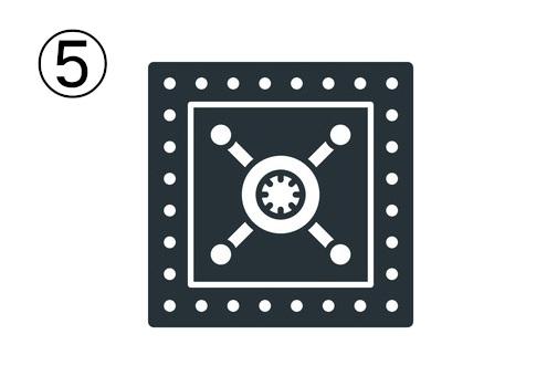ハンドル式の金庫