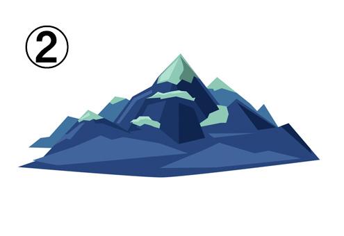 富士山のような青い山