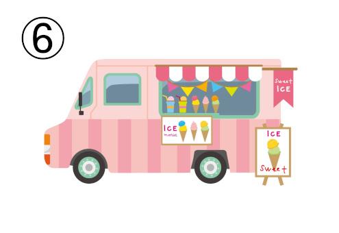 アイスのフードトラック