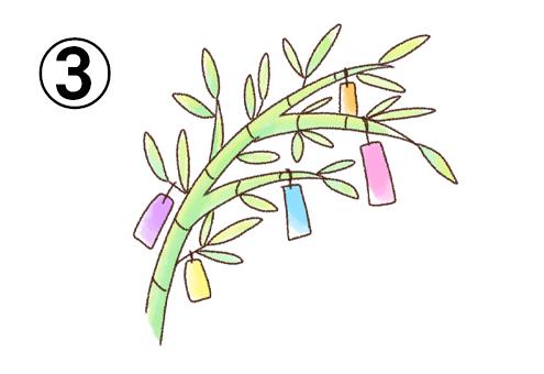 淡いグラデーションな色味の笹