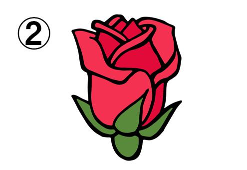 開きの浅い、カールしたバラ