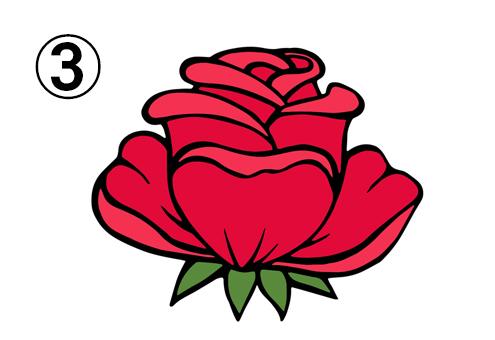 大きめの、葉が尖ったバラ