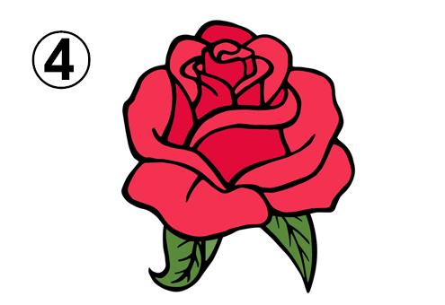 控えめに開いたバラ