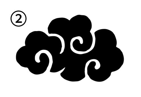 渦が3つの雲