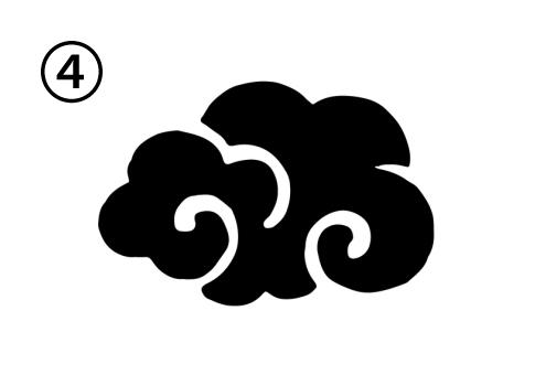 渦が2つの雲