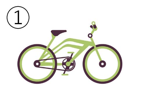 黄緑のスタイリッシュな自転車