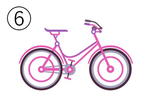 ピンクのシンプルな自転車
