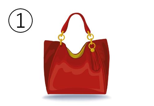 フリンジ付きの赤いバッグ