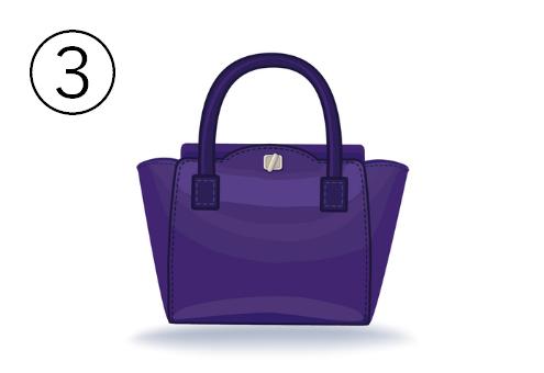 紫のチャック付きのバッグ