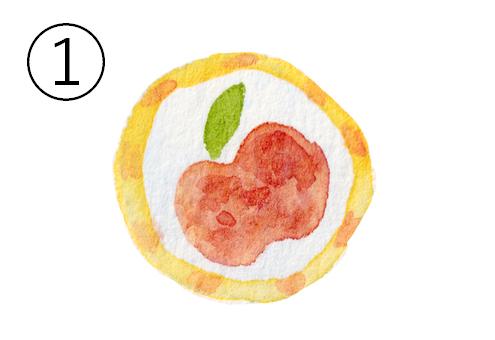 りんご柄のアメ