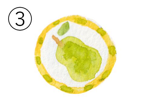 洋梨柄のアメ