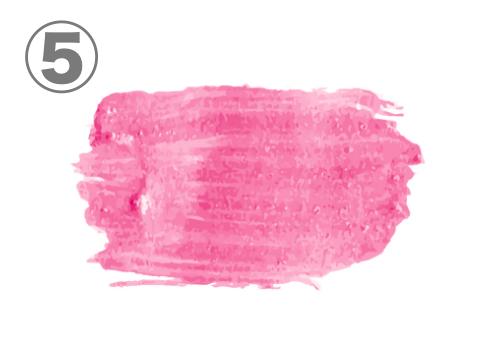 ローズピンクのリップ