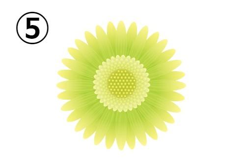 黄色、黄緑のグラデーションのガーベラ