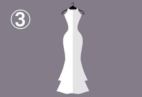 ノースリーブのマーメイドドレス