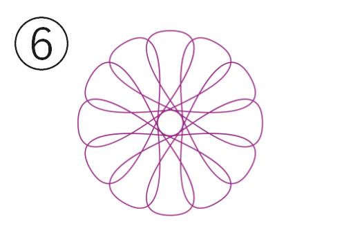 紫の輪っか大きめの花