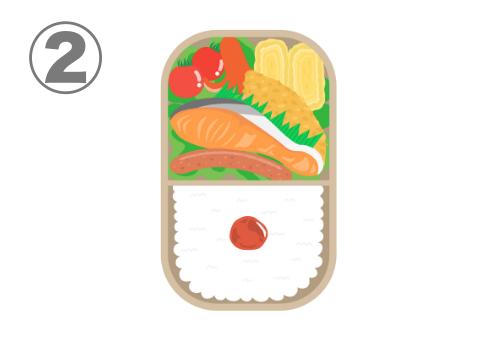焼き鮭メインの弁当