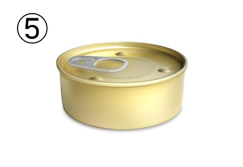 猫缶のような金の平たい缶