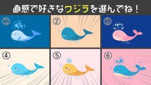 【心理テスト】クジラを選ぶと明らかに!あなたが活躍するために必要な「エネルギー残量」