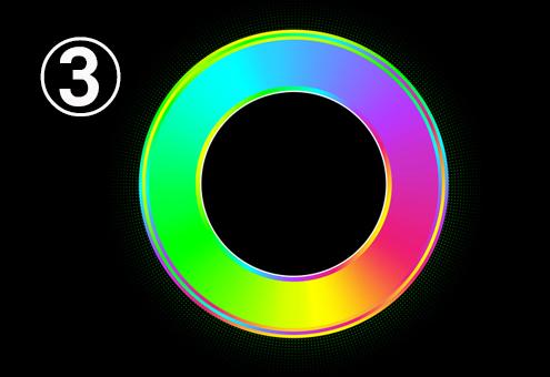 虹色のグラデーションのリング
