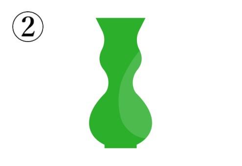 ひょうたん型の緑の花瓶