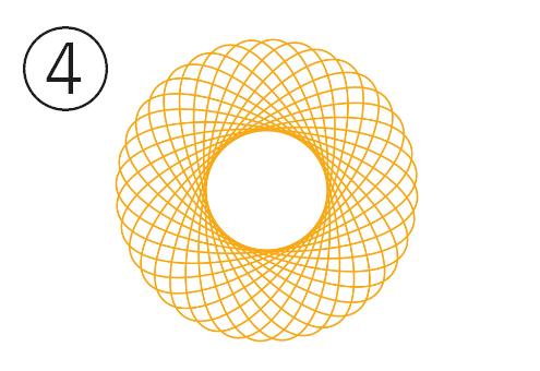 浮き輪のような繊細な黄色線の花