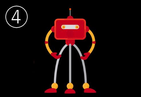足が三本の赤いロボット