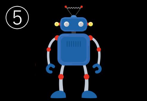 手足のついた青いロボット